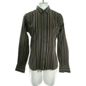 Eddie Bauer Women's Small Striped Blouse Top